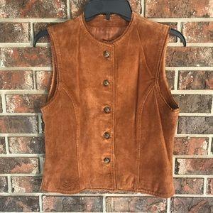 Harold's Suede Leather Vest Size Medium